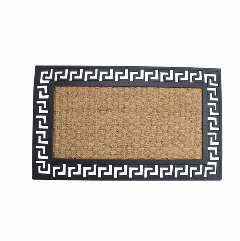 Geometric Border Welcome Mat