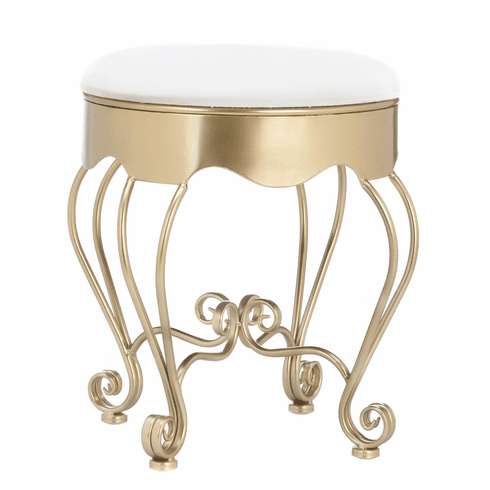 Gold Scrollwork Stool