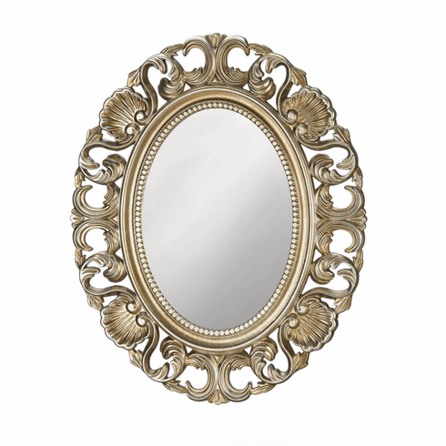 Golden Scallop Wall Mirror