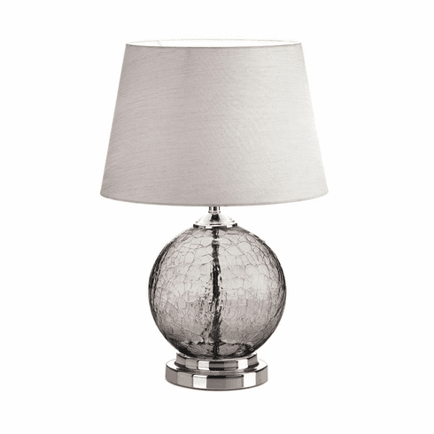 Gray Crackle Glass Table Lamp