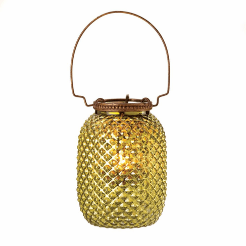Green Diamond Candle Lantern
