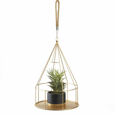 Hanging Plant Holder Round Base