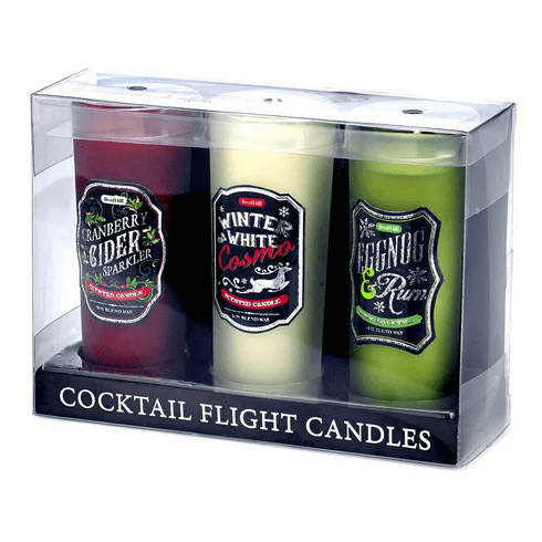Holiday Cocktail Flight Candles