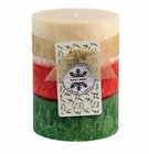 Holly Berry Pillar Candle 3X4