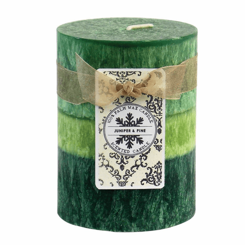 Juniper & Pine Pillar Candle 3X4