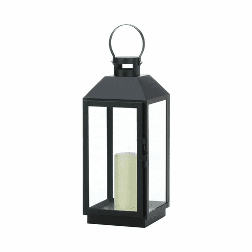 Large Ebony Candle Lantern