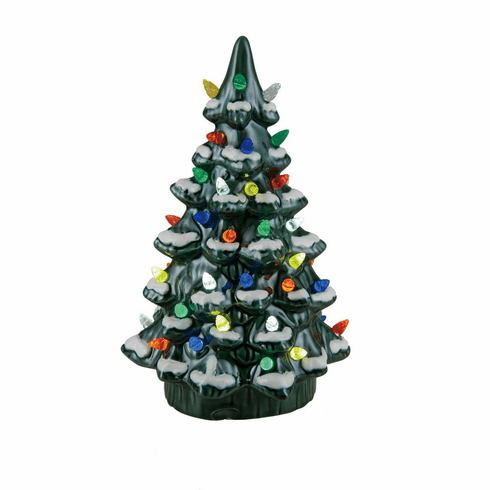 light up retro christmas tree figurine