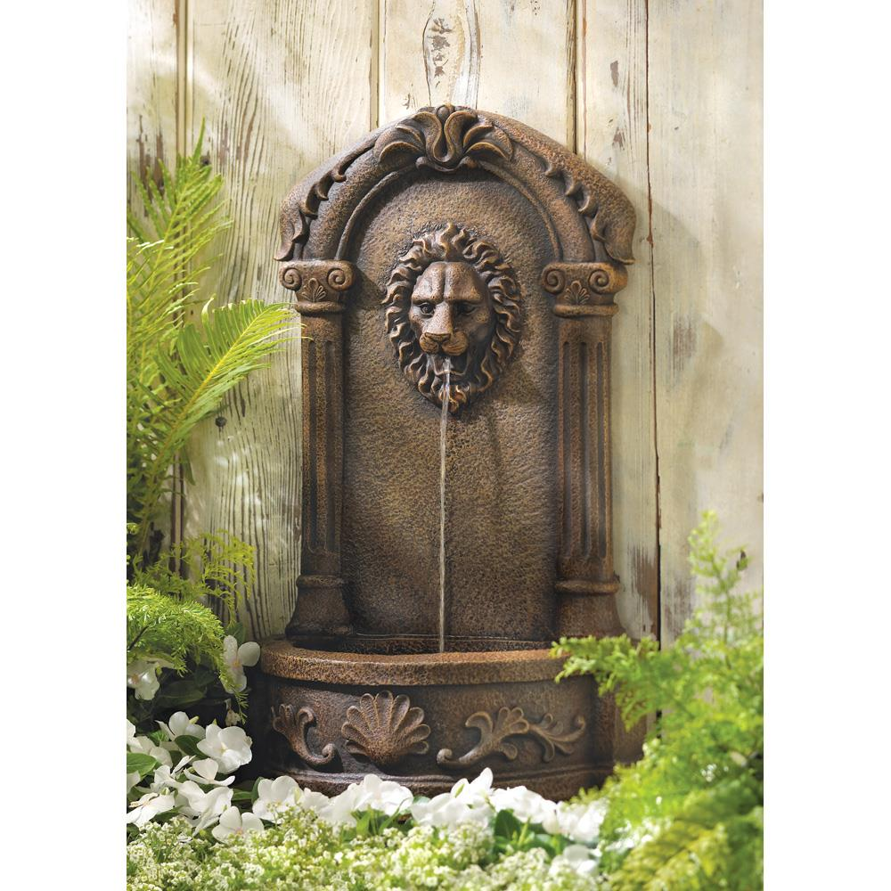 Home Decor Fountain: Lion's Head Courtyard Fountain Wholesale At Koehler Home Decor