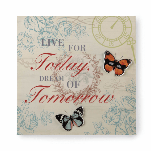 Live & Dream 3-D Butterfly Wall Art