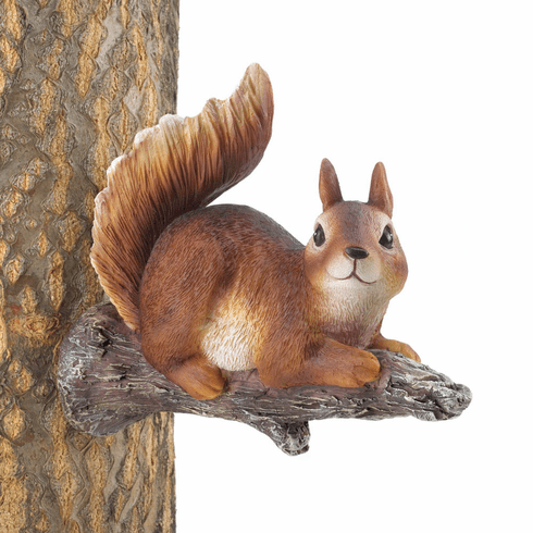 Lounging Squirrel Tree Decor