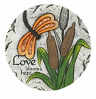 Love Blooms Here Stepping Stone