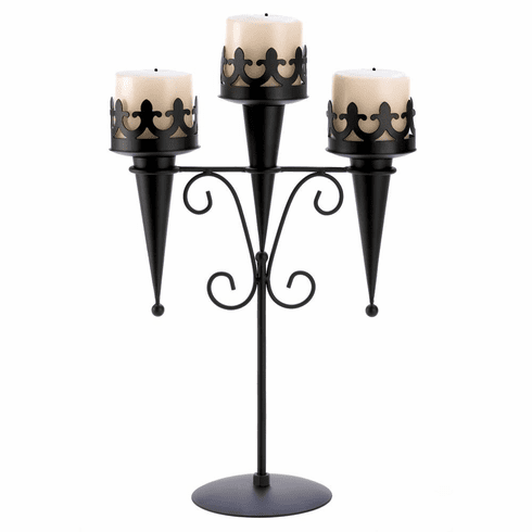 Medieval Triple Candle Stand