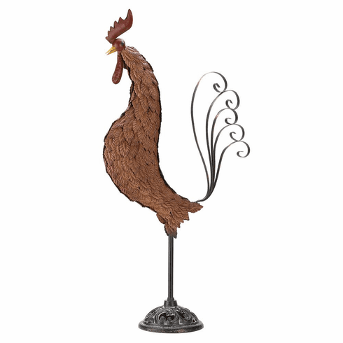 Metal Sculpture Rooster