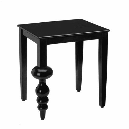 Milan Black Accent Table