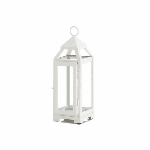 Mini Country White Open Top Lantern