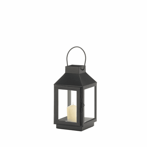 Mini Square Top Black Lantern