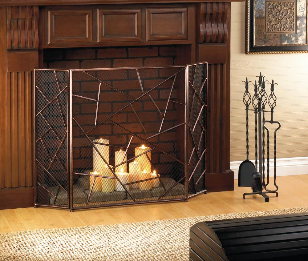 Modern Geometric Fireplace Screen Wholesale At Koehler