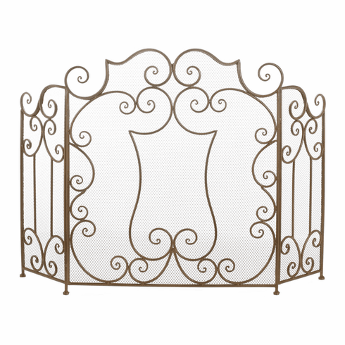 Modern Scroll Fireplace Screen
