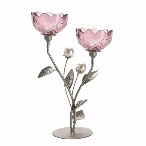 Mulberry Blooms Candle Holder