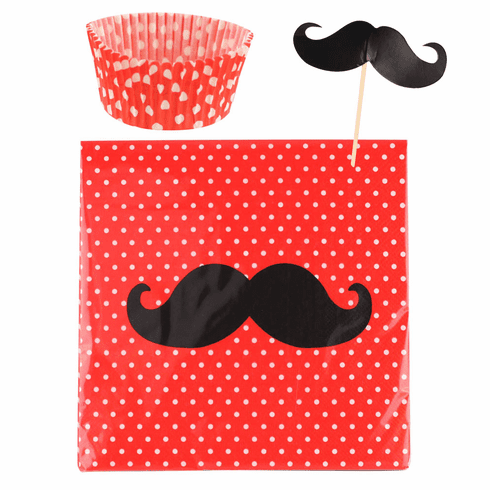 Mustache Cupcake Party Pack