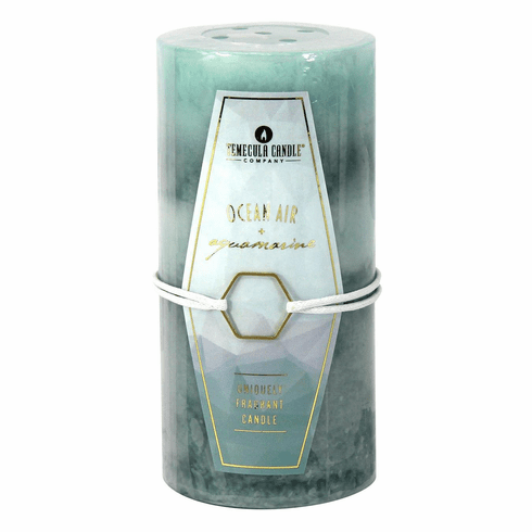 Ocean Air & Aquamarine Pillar Candle 3X6