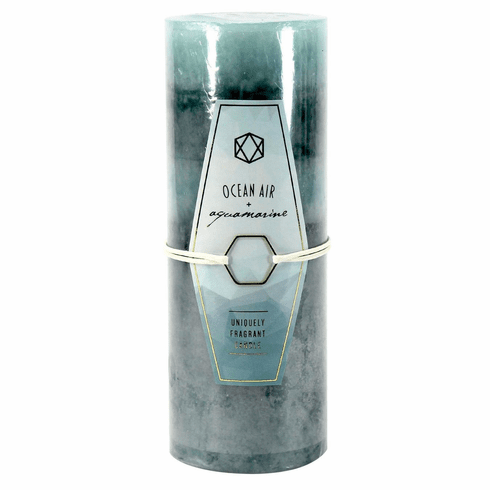 Ocean Air & Aquamarine Pillar Candle 3X8