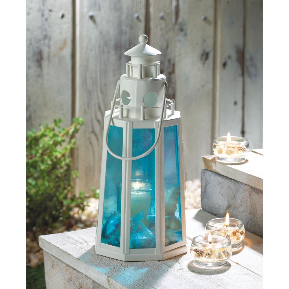 Ocean Blue Lighthouse Candle Lamp Wholesale At Koehler