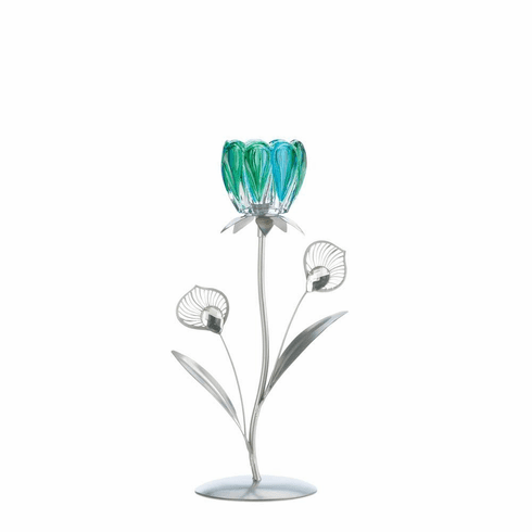 Peacock Bloom Candle Holder