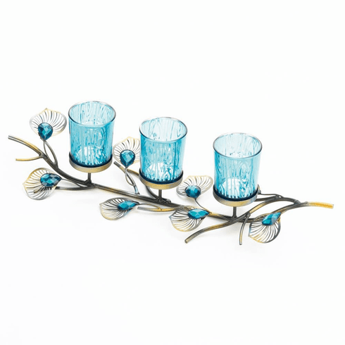 Peacock Inspired Candle Trio