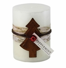 Peppermint Rustic Candle 3X4