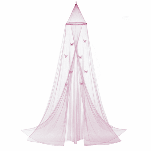 Pink Butterfly Bed Canopy