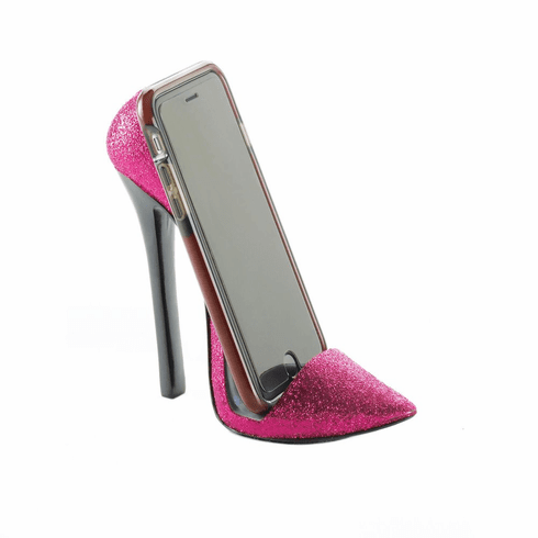 Pink Shoe Phone Holder