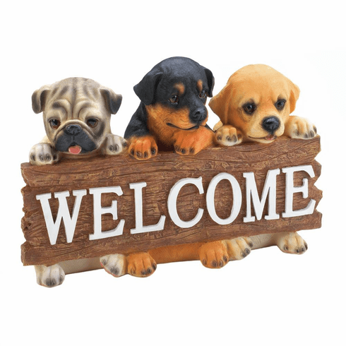 Puppy Dog Welcome Plaque
