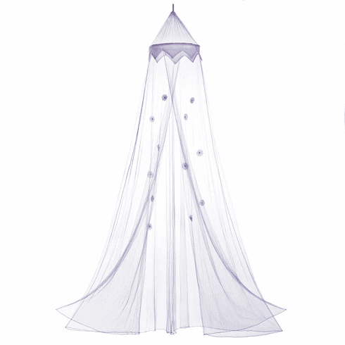 Purple Posies Bed Canopy