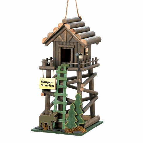 Ranger Station Wooden Birdhouse