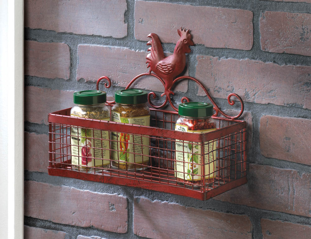 Red Rooster Single Wall Rack Wholesale At Koehler Home Decor