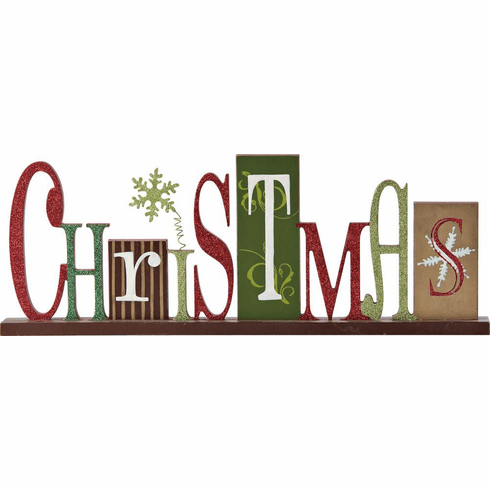 Retro Wooden Christmas Sign