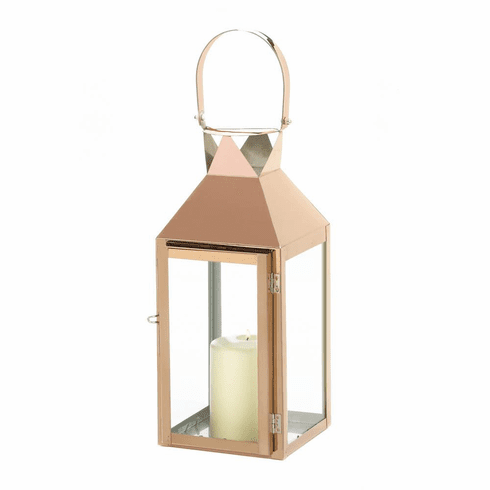 Rose Gold Candle Lantern