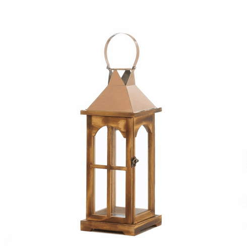 Rose Gold Wooden Lantern