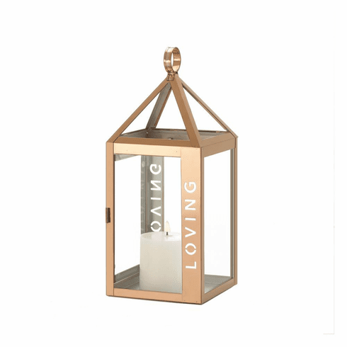 Rose Metal Frame Loving Lantern