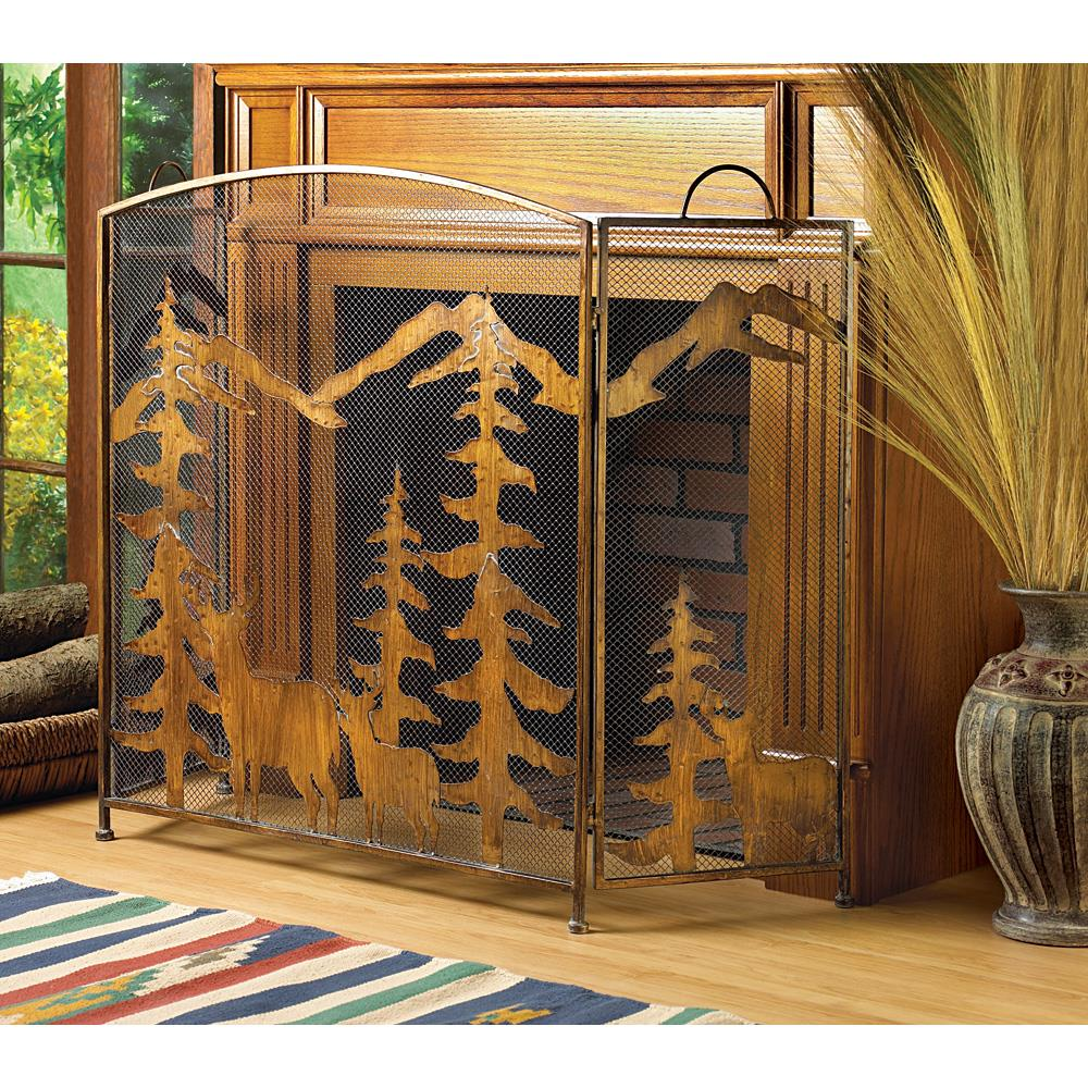 Rustic Forest Fireplace Screen Wholesale At Koehler Home Decor