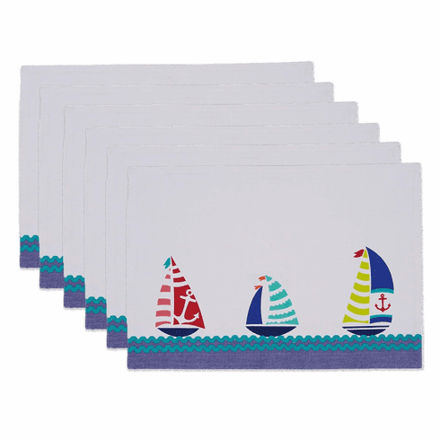 Sailboats Placemat S/6