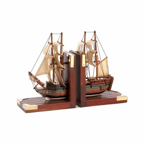 Sailing Schooner Bookends