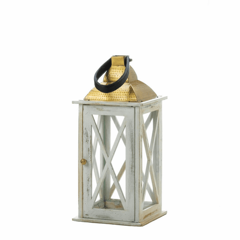 Savannah Medium White Lantern