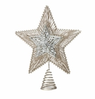Silver & Gold Star Christmas Tree Topper