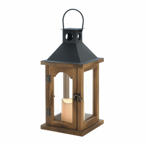 Simple Rustic Lantern with LED Candle