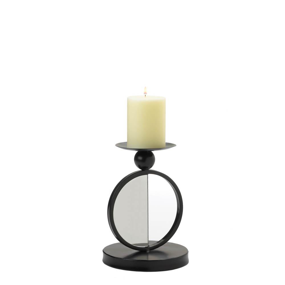 Single Mirrored Candle Holder