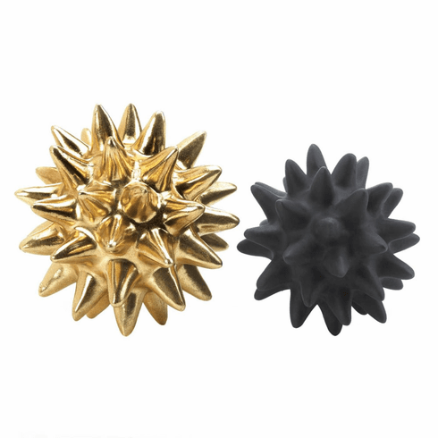 Storico Gold And Black Spike Sculptures