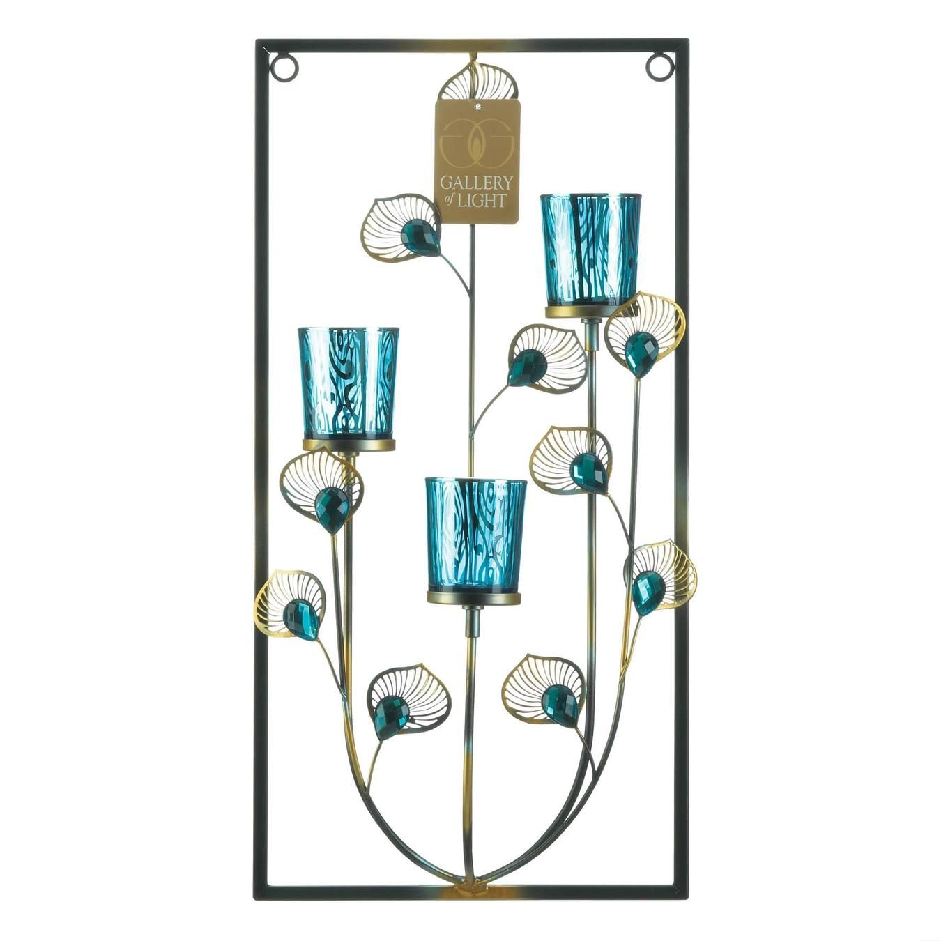 Three Candle Peacock Wall Sconce Wholesale At Koehler Home