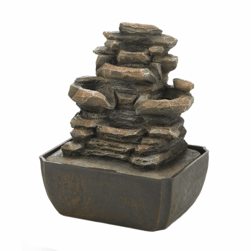Tiered Rock Formation Fountain
